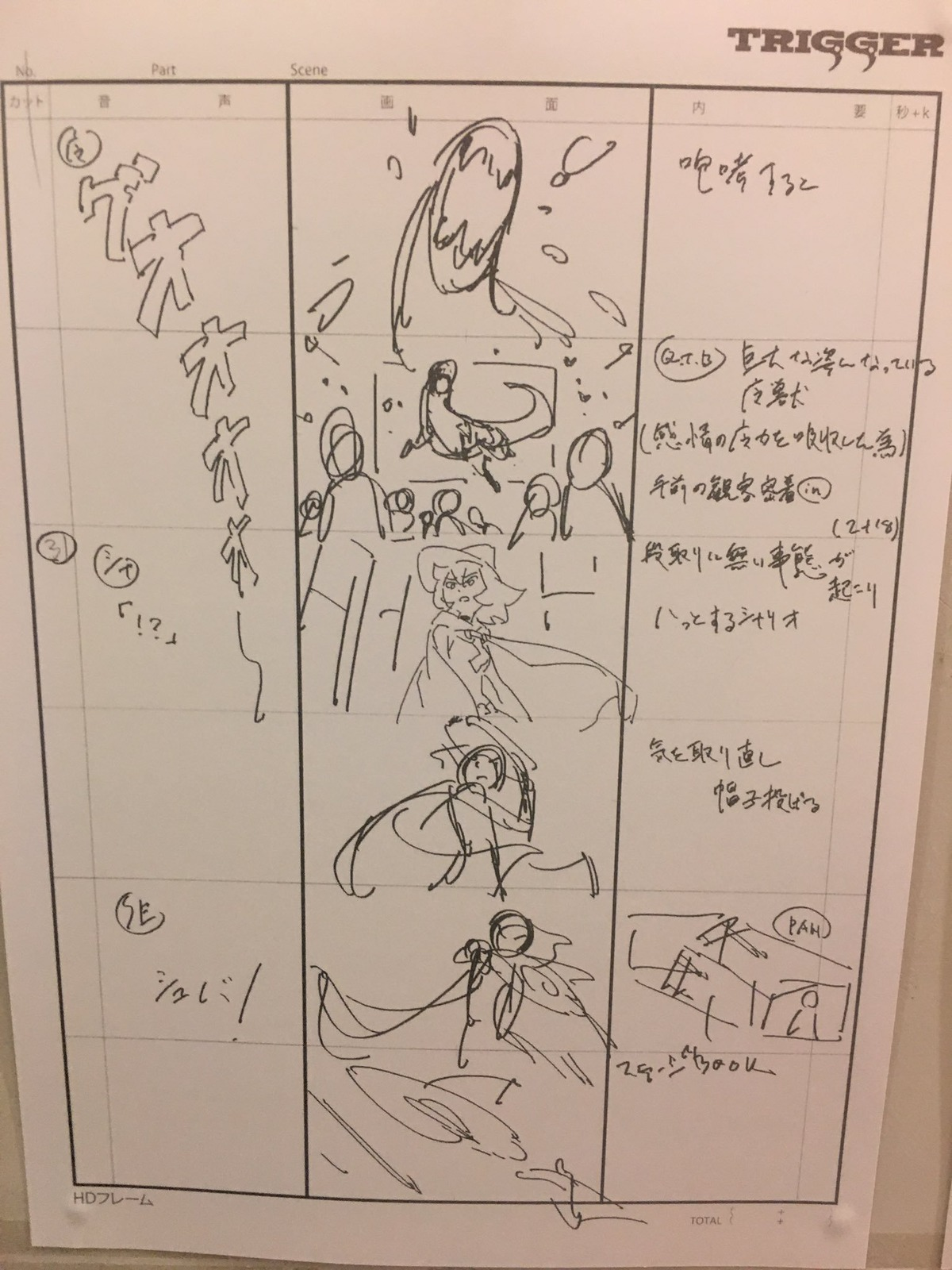 A storyboard from Little With Academia by Yô Yoshinari