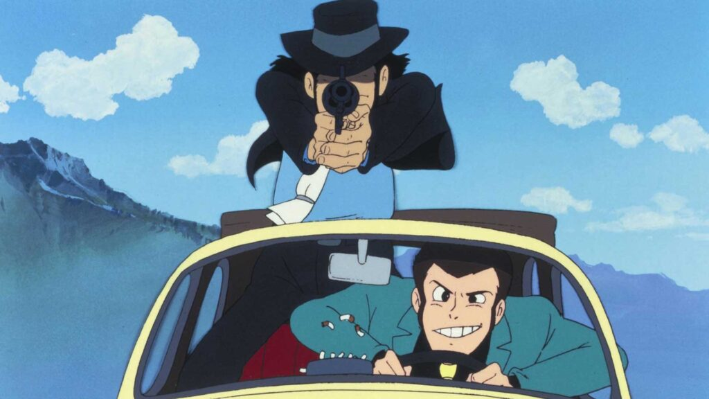 Car chasing scene from Lupin III The Castle of Cagliostro