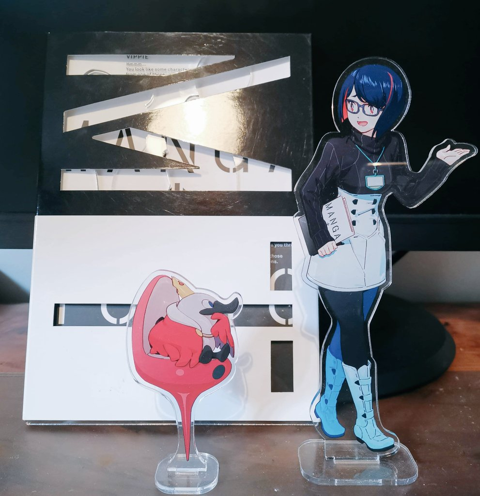 Manga Tokyo exhibition book and acrylic stand